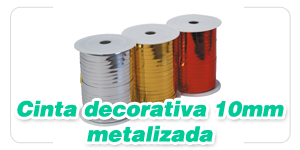 Cinta Decorativa 10 mm Met