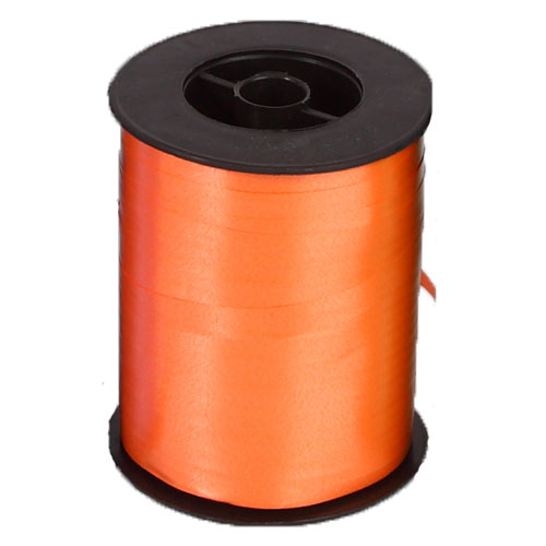 Rollo Cinta Decorativa Rizada 10 mm (ref. 025) Color Naranja